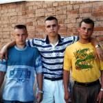 спортзал Богатырь, после тренировки Петр, Алексей, Владимир