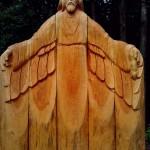 деревянные фигуры в заповеднике Лудорвай