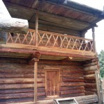 деревянные постройки древних Удмуртов в музее Лудорвай