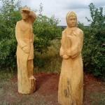 деревянные скульптуры древних Удмуртов в заповеднике Лудорвай