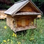пчелинный улей в виде избы на пасеке в Лудорвае
