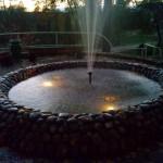 вечерний фонтан санаторий Варзи Ятчи