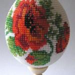 Яйцо из бисера к Пасхе